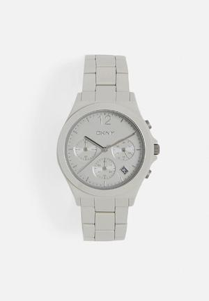 DKNY Parsons Ceramic Watches Grey