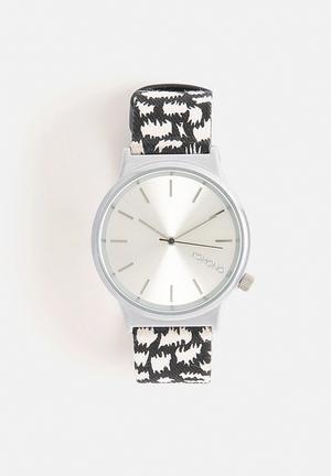 Komono  Wizard Print Series Night Flakes Watches Black & White