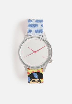 Komono  Andy Rementer Watches White & Blue
