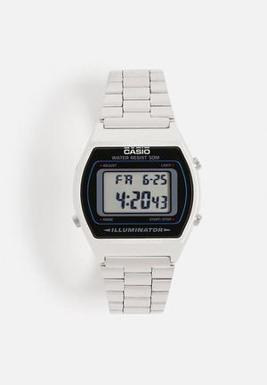 Casio Digital Wrist Watch B640WD-1AVDF Silver