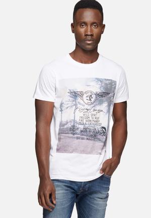 Diesel  Diego Tee T-Shirts & Vests White