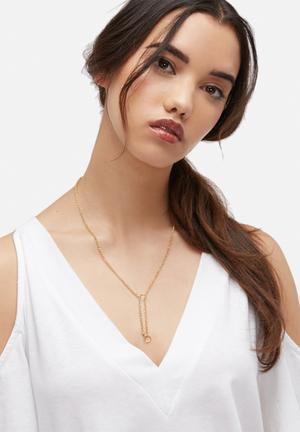 Bennt Double Circle Necklace Jewellery Gold