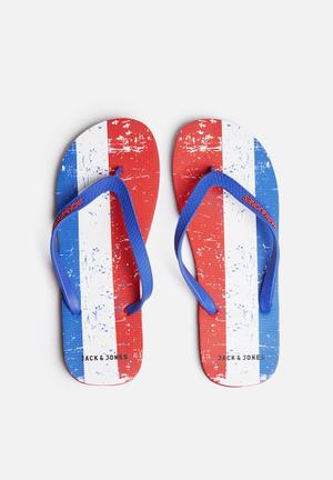 Jack & Jones Footwear & Accessories Rubber Flag Sandals & Flip Flops Blue