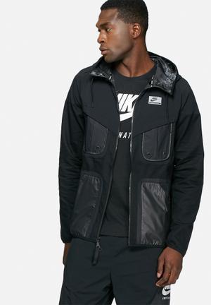 Nike Perforated Windrunner Hoodies & Sweatshirts Black