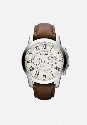 Fossil Grant Watches Brown