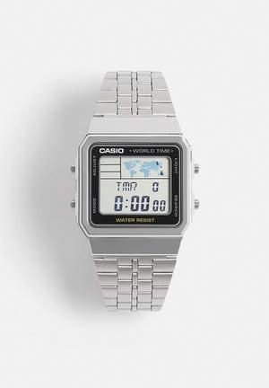 Casio Digital Wrist Watch A500WA-1DF Silver