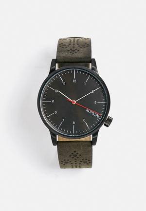 Komono  Winston Brogue Watches Charcoal