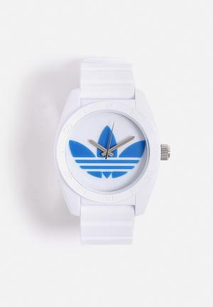 Adidas Originals Santiago Watches White & Blue