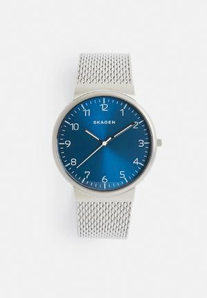Skagen Ancher Watches Silver & Blue