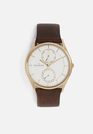 Skagen Holst Watches Saddle/White
