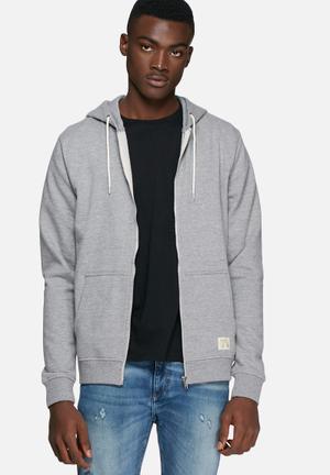 Blend Sweat Zip Hoodie Hoodies & Sweatshirts Grey Melange