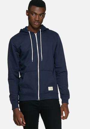 Blend Sweat Zip Hoodie Hoodies & Sweatshirts Navy