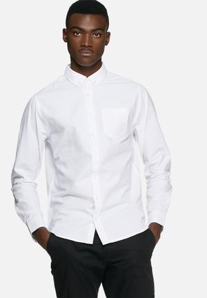 Blend Classic Button-up Formal Shirts White