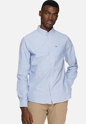 Blend Classic Button-up Formal Shirts Blue
