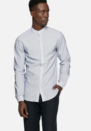 Selected Homme Alex Stripe Shirt White & Navy