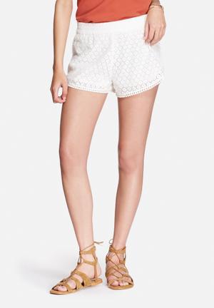 Vero Moda Jolien Lace Shorts White