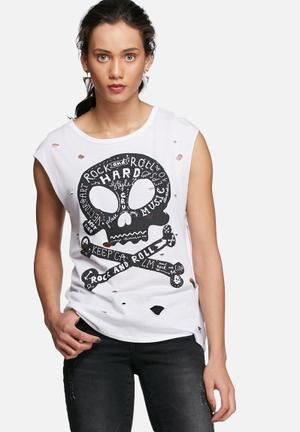 ONLY Hard Rock Star Tee T-Shirts, Vests & Camis White