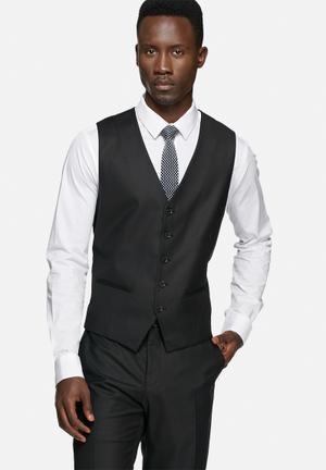 Selected Homme Logan Waistcoat Black
