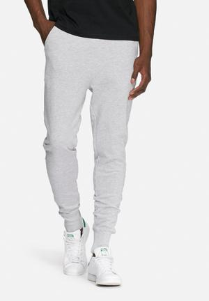 Basicthread Slim Sweat Pants Sweatpants & Shorts Grey Melange
