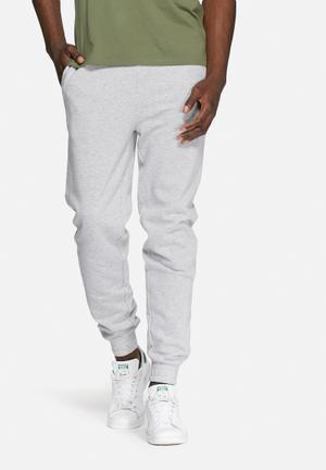 Basicthread Regular Sweat Pants Sweatpants & Shorts Grey Melange