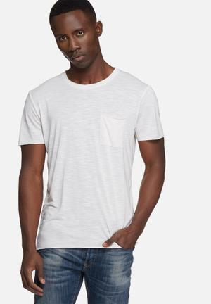 Selected Homme Christian Tee T-Shirts & Vests White