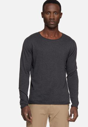 Selected Homme Dome Crew Neck Knitwear Grey
