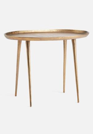Sixth Floor Large Oval Side Table Aluminium