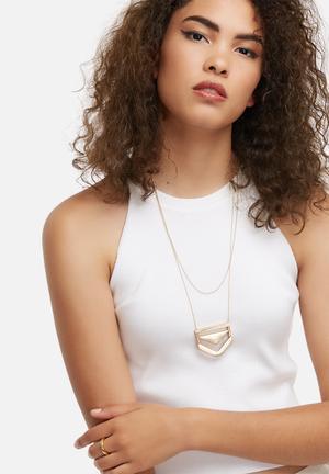 Vero Moda Catrine Necklace Jewellery Pale Gold