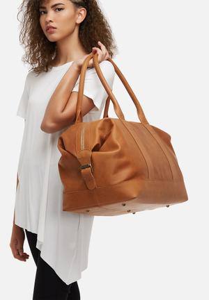 FSP Collection Leather Duffel Bags & Purses Tan