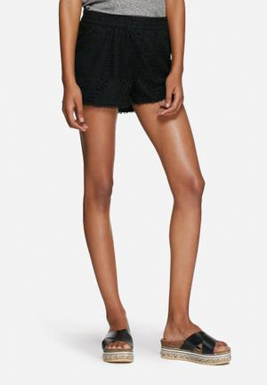 ONLY Heaven Lace Shorts Black