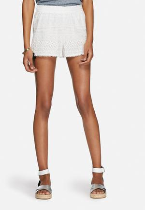 ONLY Heaven Lace Shorts White