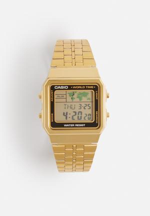 Casio Digital Wrist Watch A500WGA-1DF Gold