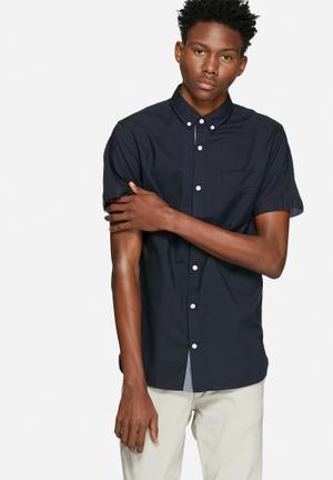 Jack & Jones Footwear And Accessories David Slim Shirt  Navy