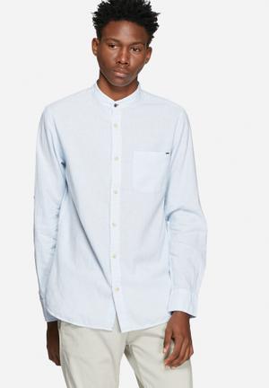 Jack & Jones Vintage Rupert Striped Slim Shirt Blue