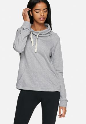 Dailyfriday Funnel Neck Sweat Hoodies & Jackets Grey