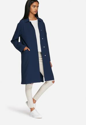 ADPT. Great Long Coat Navy