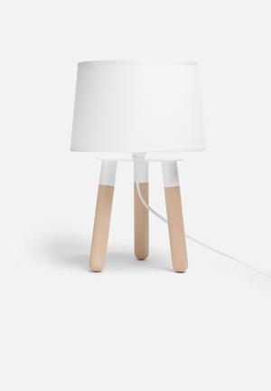Present Time Orbit Table Lamp Lighting Wood