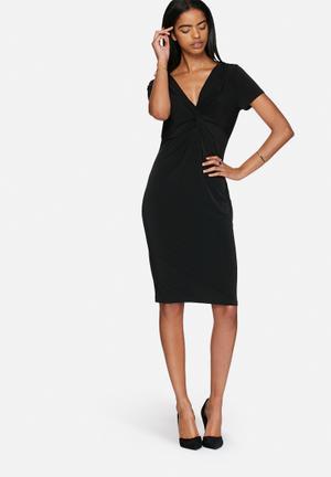 Vero Moda Nelly Knot Knee Dress Formal Black
