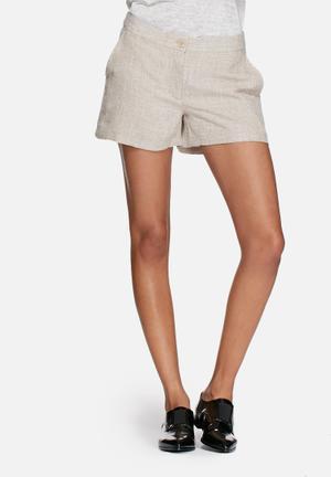 Vero Moda Newzen Shorts White & Brown