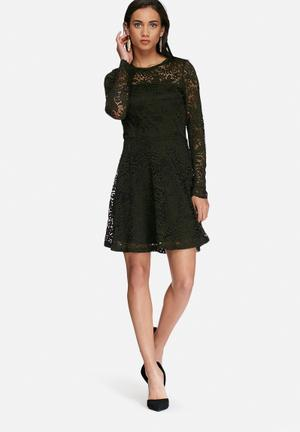 Vero Moda Celeb Lace Dress Occasion Green
