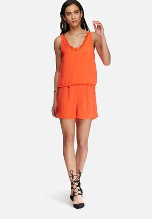 Vero Moda Iva Playsuit Orange