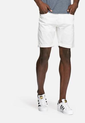 PRODUKT Denim Shorts White