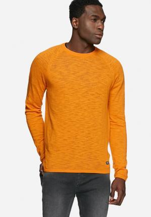 PRODUKT Slub Crewneck Knitwear Orange