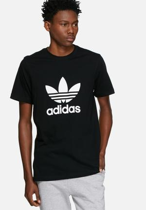 Adidas Originals Trefoil Tee T-Shirts Black & White
