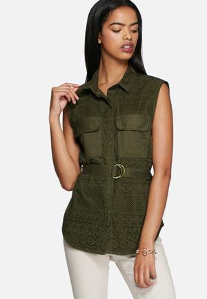 Vero Moda Zoe Shirt Khaki