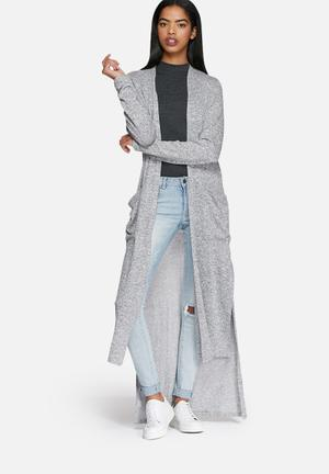 Dailyfriday Ricci Maxi Cardigan Knitwear Grey & Black