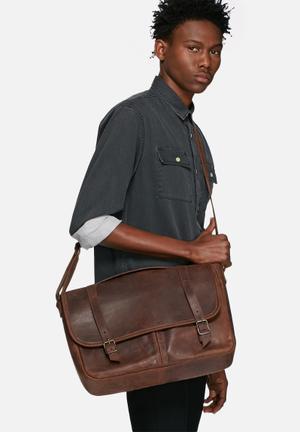 """Burgundy 15"""" Satchel Bags & Wallets Brown"""