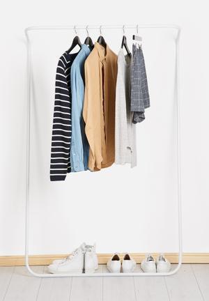 Emerging Creatives Clothes Rail Shelves & Racks White