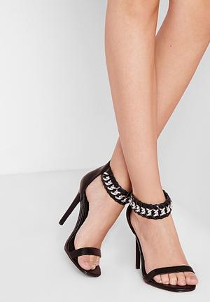 Missguided Chained Heeled Sandal Black