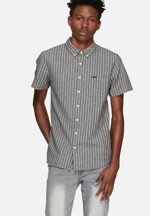 Sergeant Pepper Vertical Stripe Shirt Black & White
